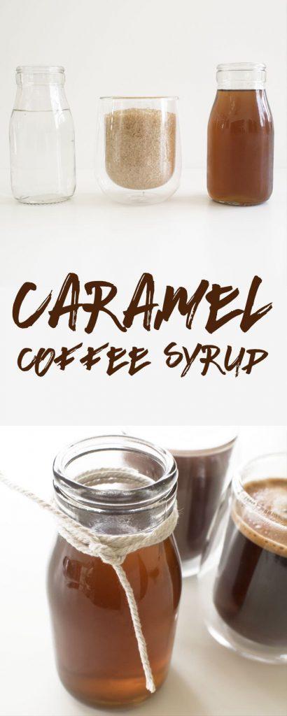 How to make homemade caramel coffee syrup