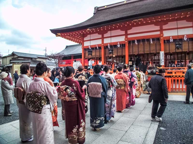 The Kenka-sai ceremony at Fushimi Inari Shrine in Kyoto