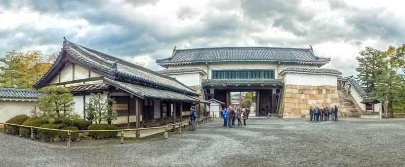 Nijo Castle gate and guardhouse in Kyoto