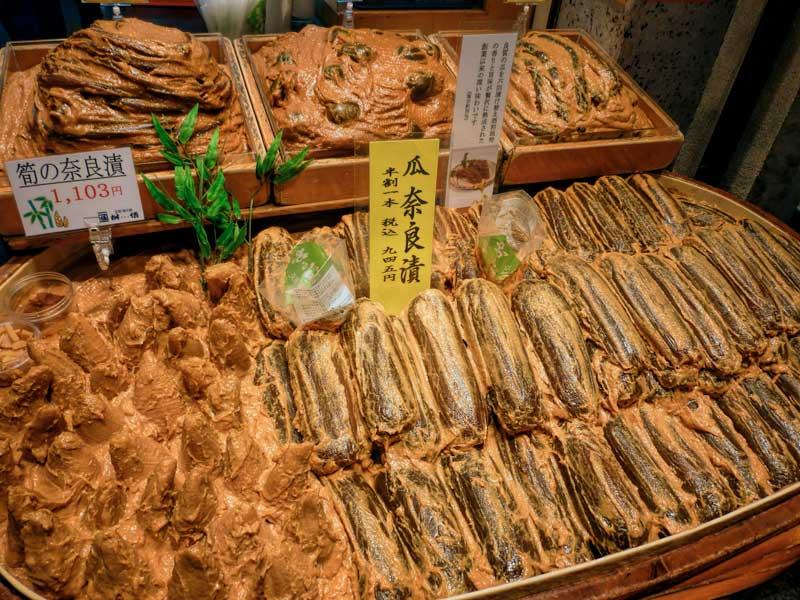 Miso pickles at Nishiki Market
