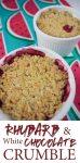 Rhubarb and white chocolate crumble recipe