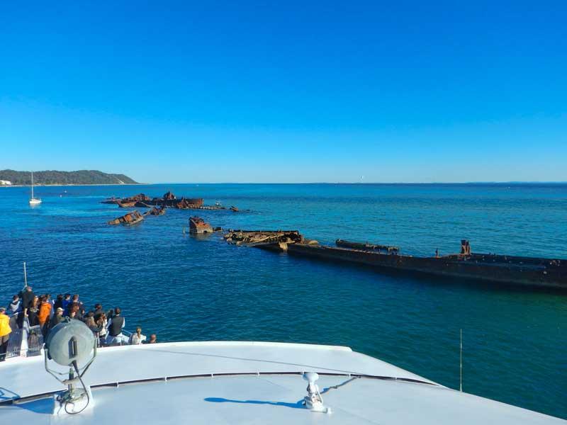 The wrecks at Morton Island, Queensland