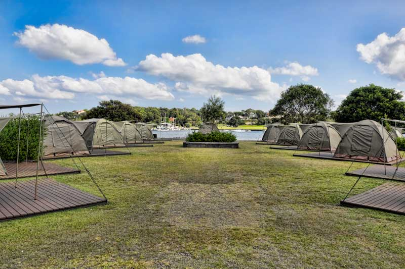 Camping on Cockatoo Island