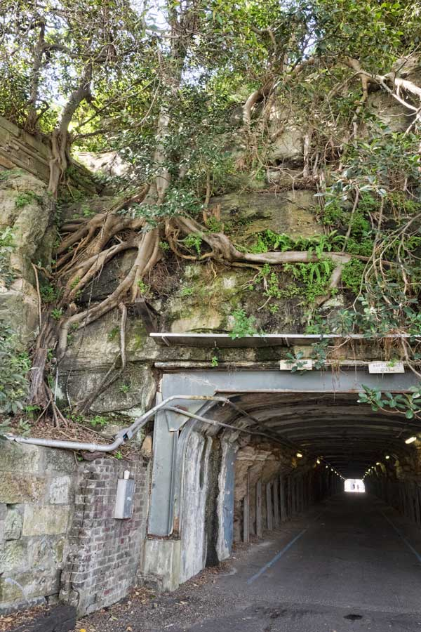 Cockatoo Island original tunnel
