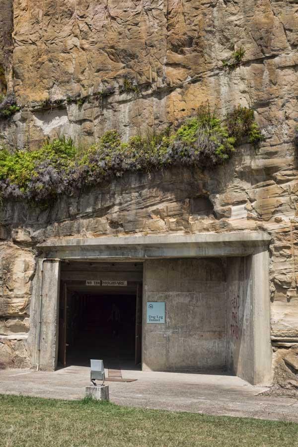 Cockatoo Island dog leg tunnel