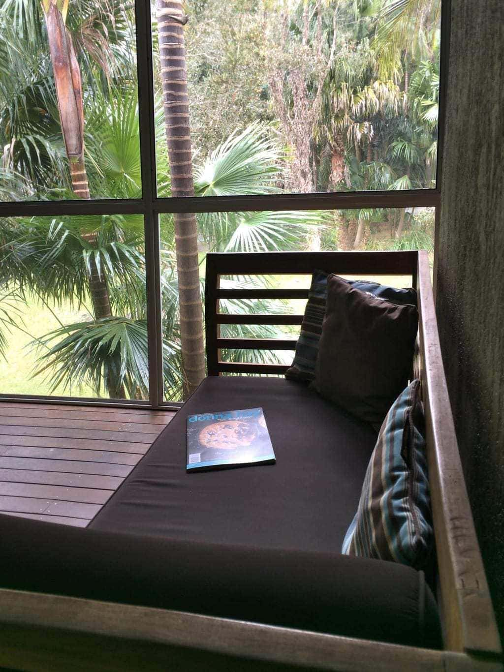 The daybed at Angourie Rainforest Retreat was so comfortable