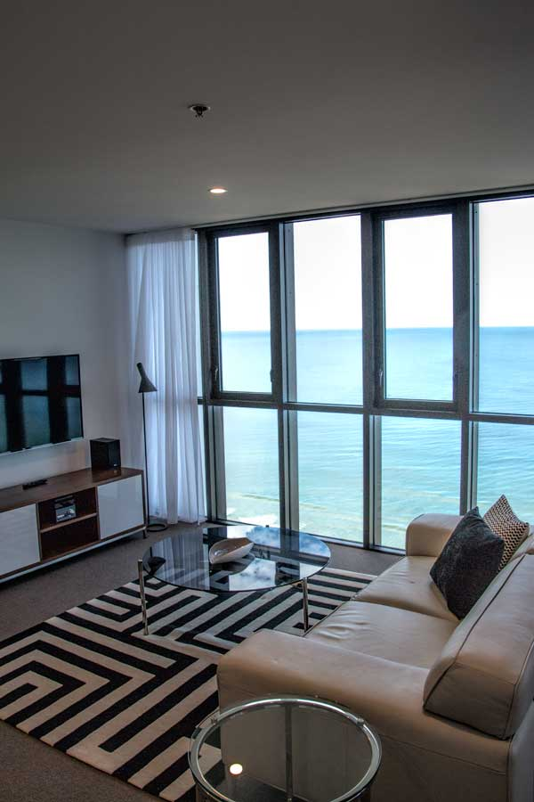 Rhapsody Resort lounge room and view