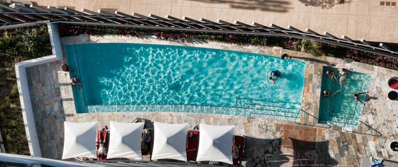 Pool from above at Rhapsody Resort