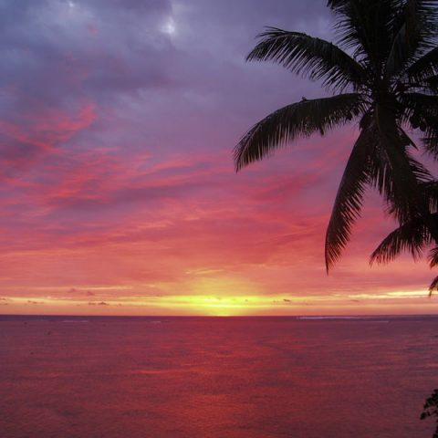 Sunsets in Fiji are absolutely stunning
