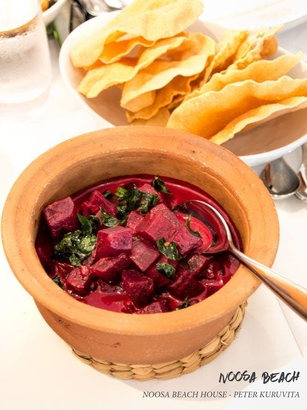 Noosa Beach House beetroot curry