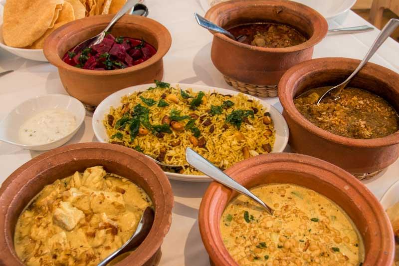 Noosa Beach House Sri Lankan curry selection