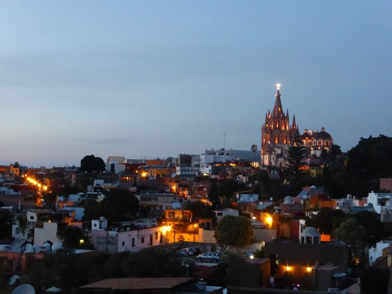 San Miguel de Allende at night