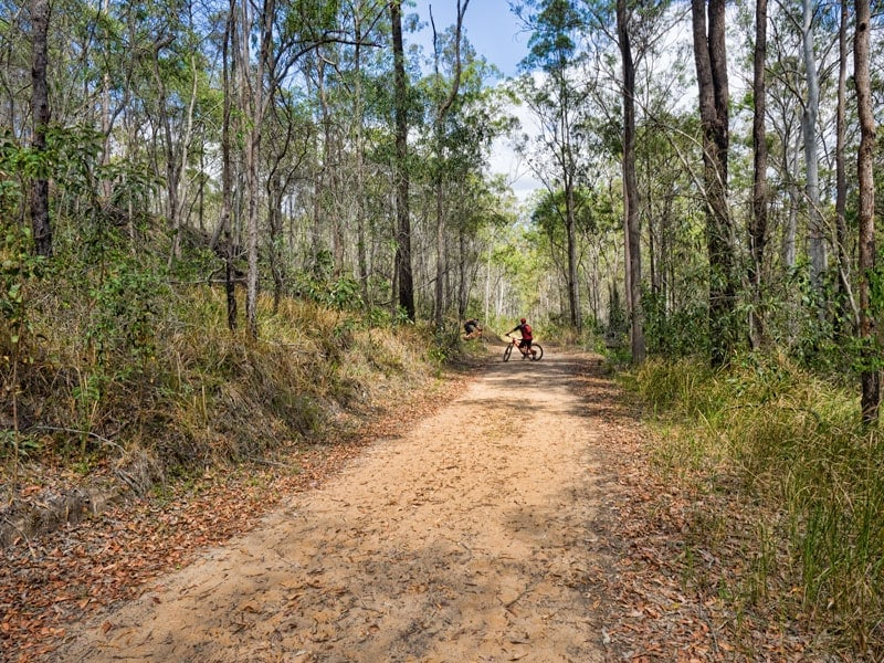 Mountain biking on the Multi use trail at White Rock Conservation Park