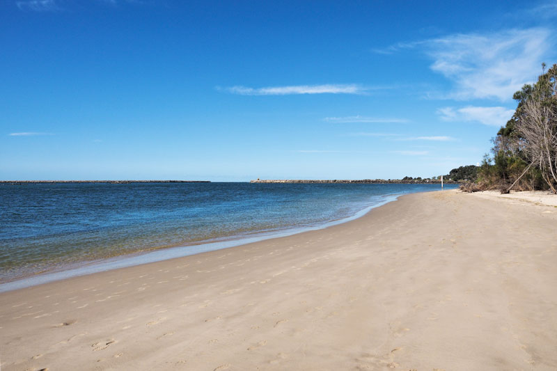Yamba miles of soft white sand