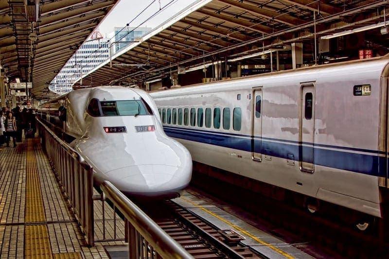 Shinkansen   Bullet Train in Tokyo Station Japan