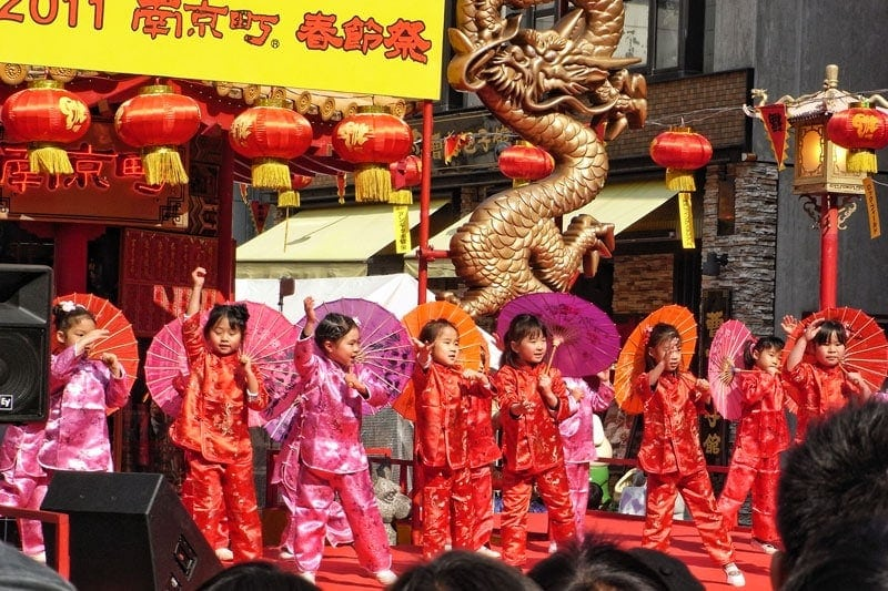 Chinese New Year in Kobe Japan