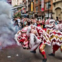 Lion dance - Chinese New Year in Sydney