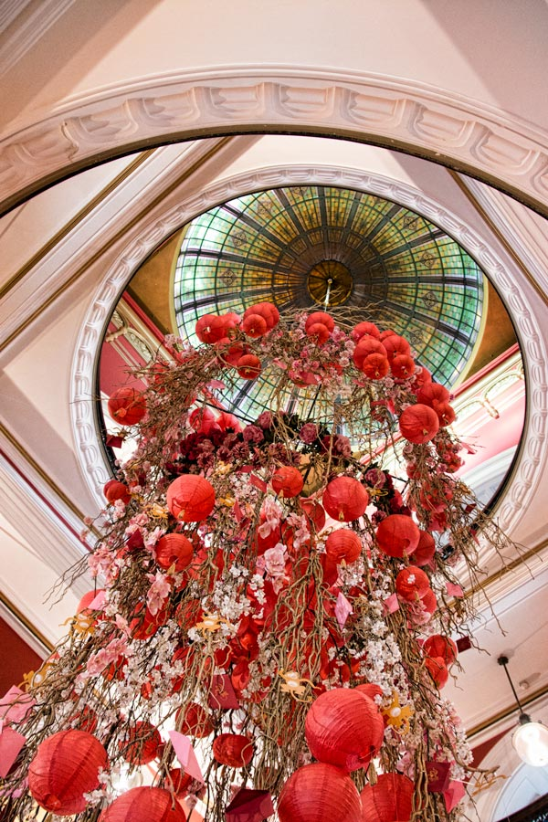 QV buildings elaborate decorations for Chinese New Year in Sydney