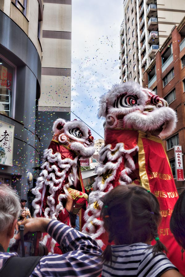 Lion Dance for Chinese New Year in Sydney