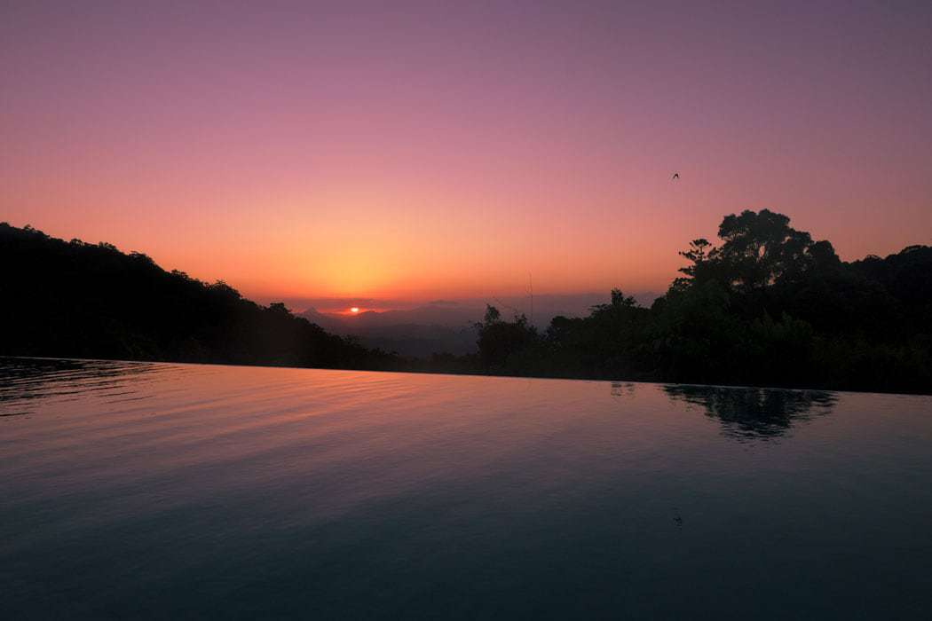 O'Reillys sunset from the infinity pool