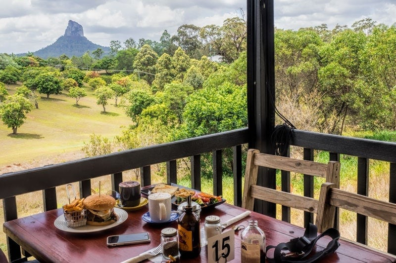 The Glasshouse mountains lookout cafe