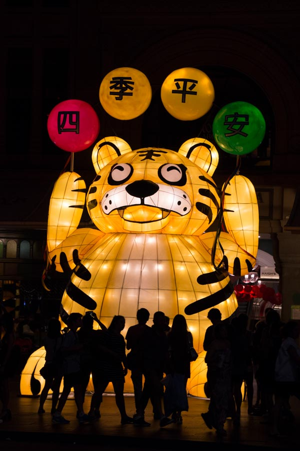 Sydney city lanterns for Chinese New Year