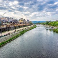 Kamogawa River from Gion in Kyoto