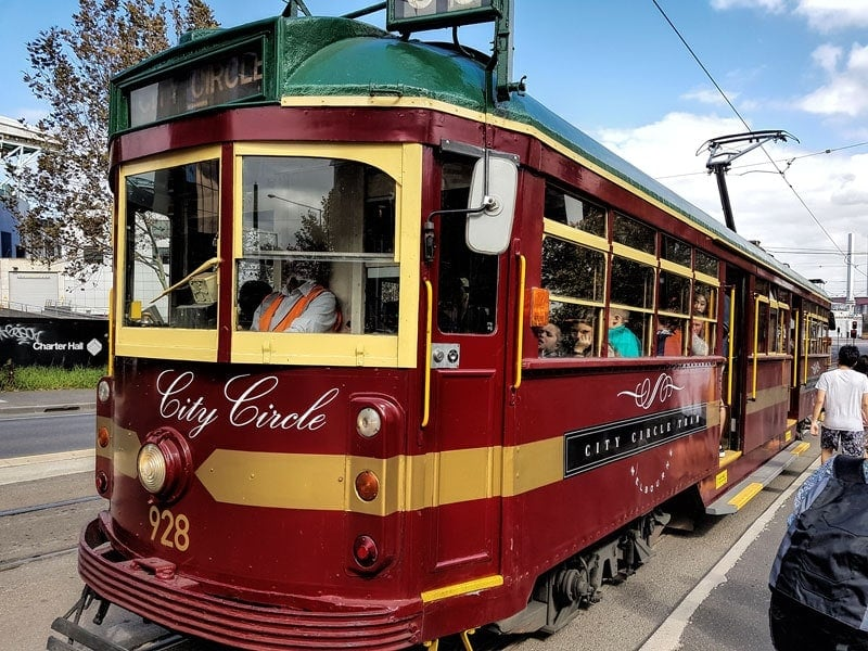 Melbounes free city circle tram