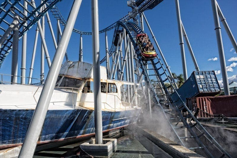 Storm roller coaster at Sea World