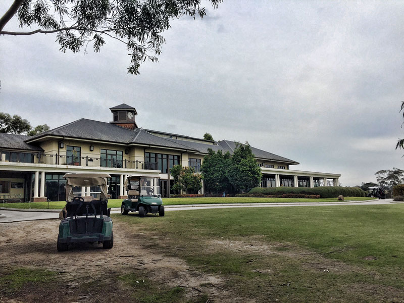 Golf Club House and buggies at Yarra Valley Lodge