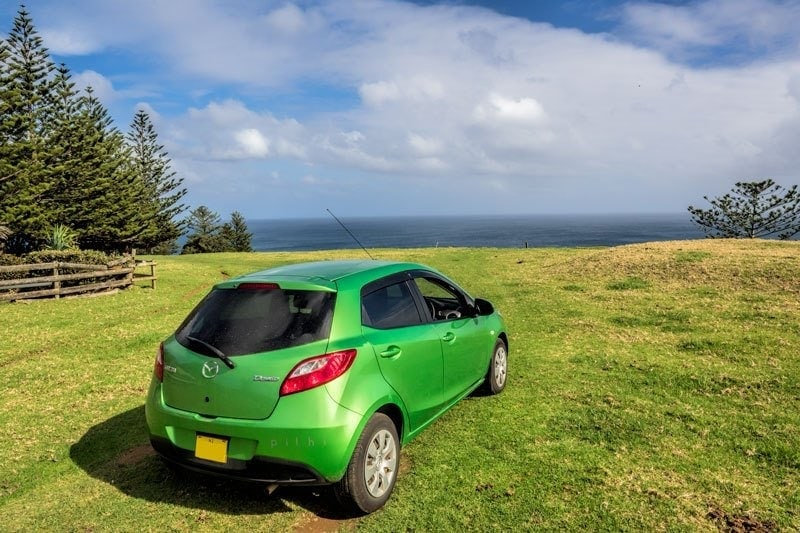 Car on Norfolk Island