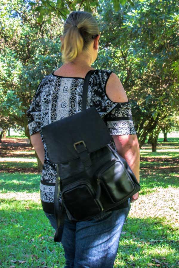 Mahi leather backpack - Roma