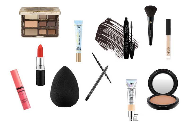 Capsule makeup bag for travel