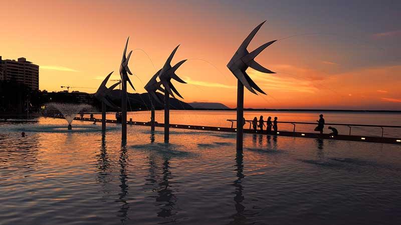 Cairns waterfront esplanade