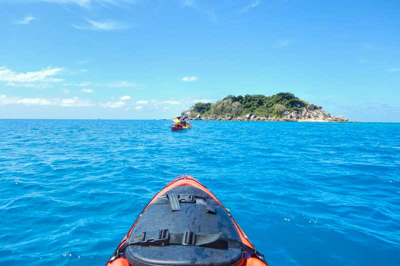 Kayaking at Fitzroy Island
