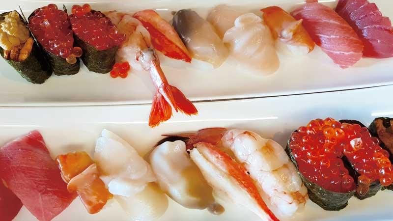 Nigiri sushi at Wa-Rasse in Aomori