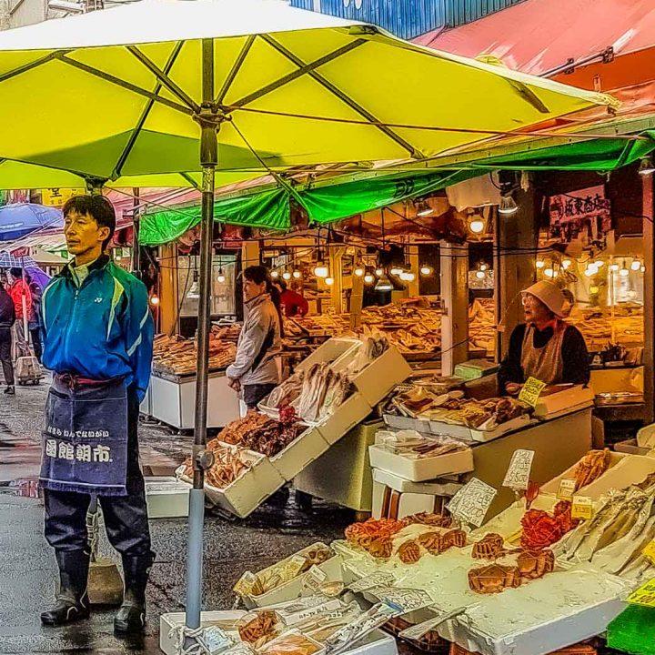 Outside Hakodate morning market