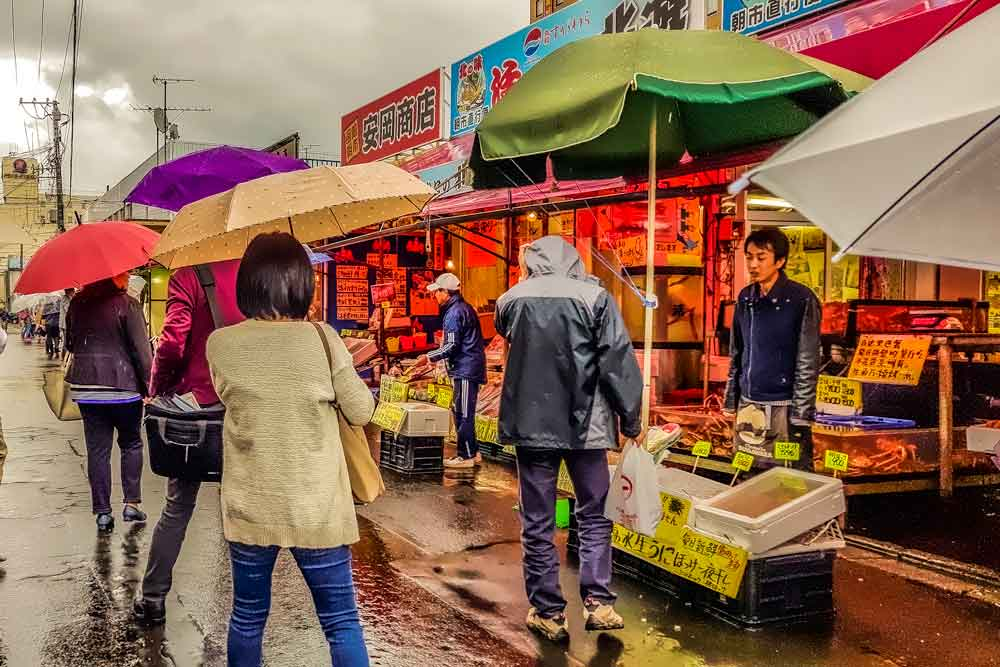 Outside Hakodate morning market