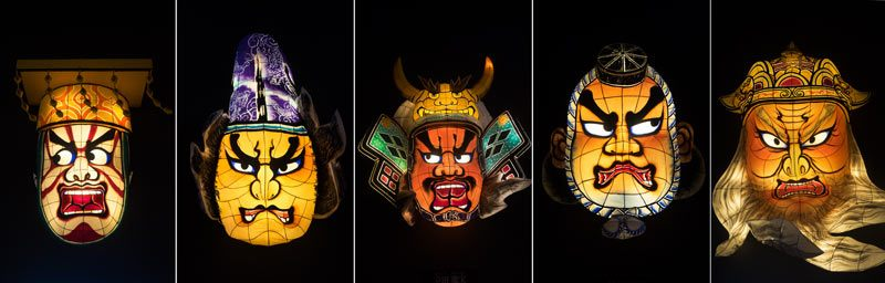 Nebuta masks by current artists