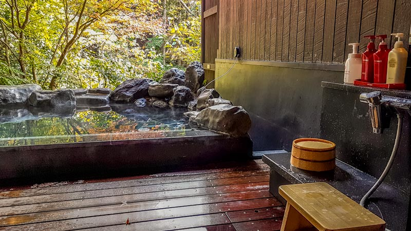 Hakone Yuryo pool and wash area