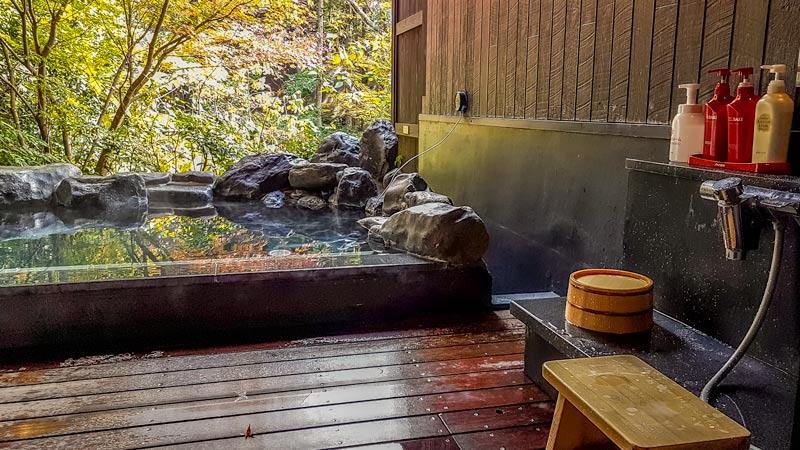 Hakone Yuryo pool and wash area
