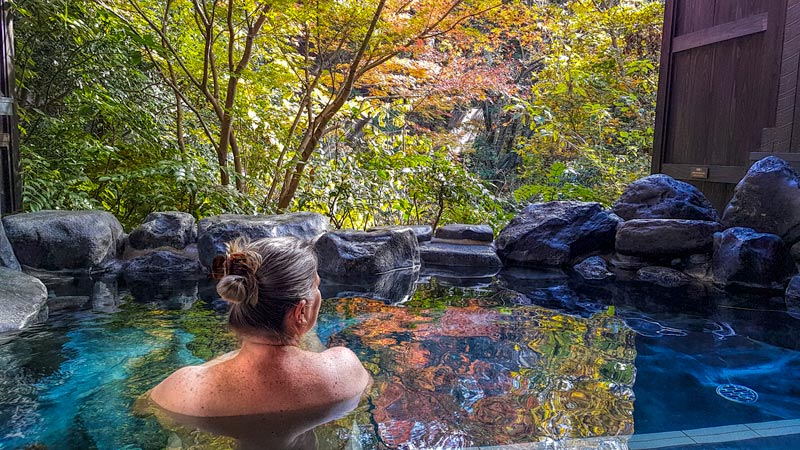 Relaxing at Hakone Yuryo onsen