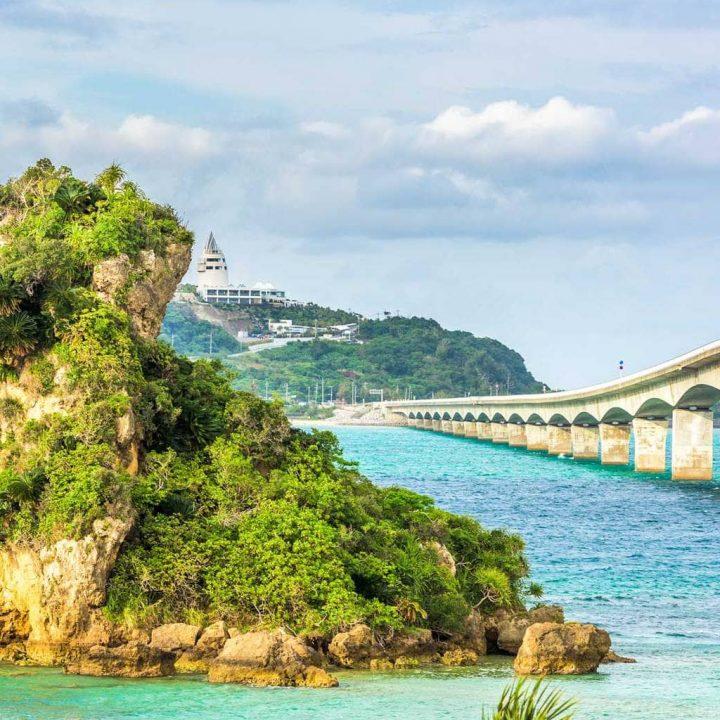 Kouri bridge in Okinawa