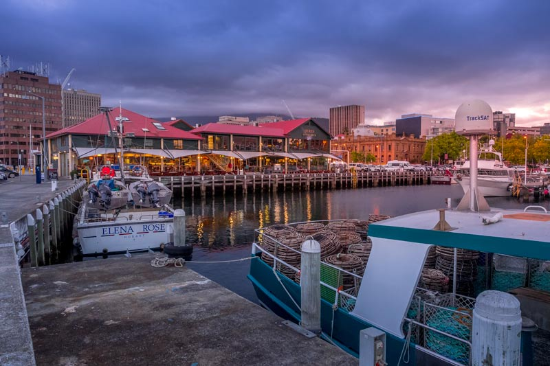 Mures restaurants on the waterfront in Hobart