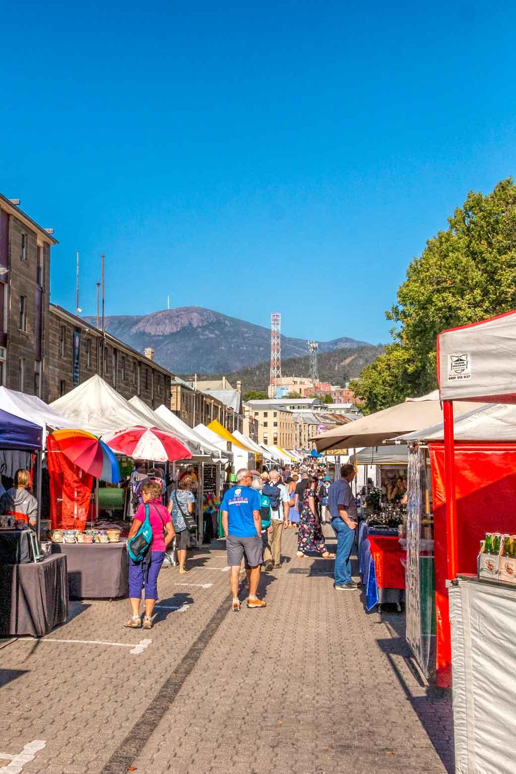 Salamanca - one of the best Hobart markets