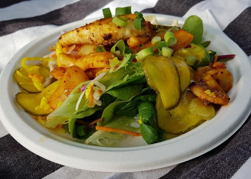Seafood plate at Street Eats Franko