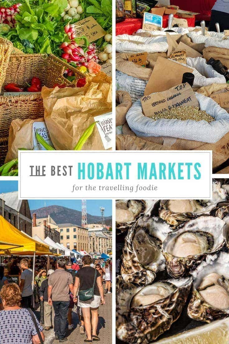 This is where you the best markets in Hobart for foodies. #Tasmania #Markets #Australia
