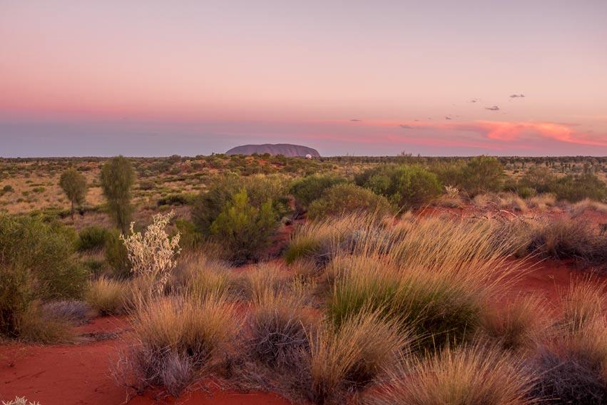 Sunset over Uluru
