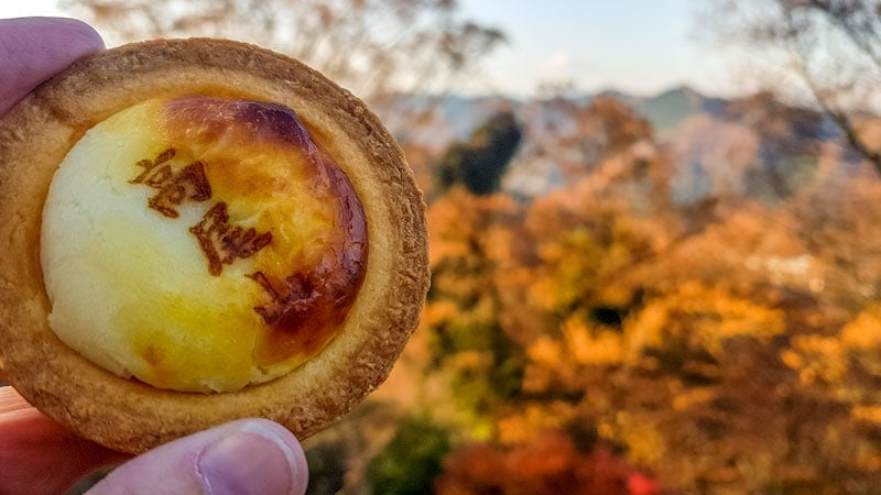 The best cheese tarts on Mount Takao