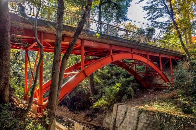 Golf-bashi bridge Todoroki Tokyo